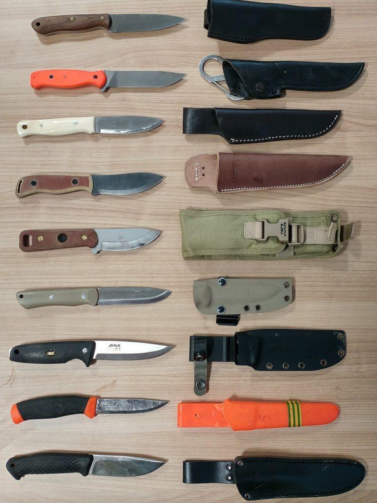 Figure 8 - Types of Bushcraft Knives