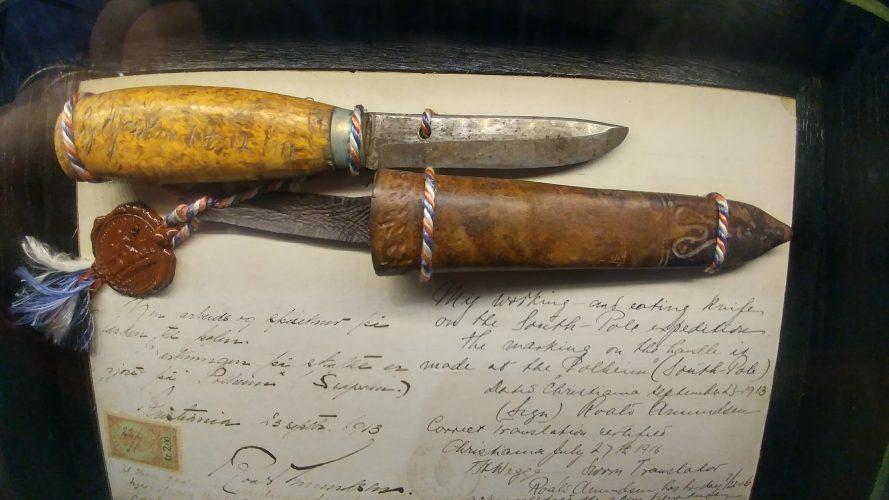 Original Bushcraft knife on display in Oslo museum